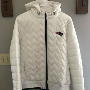 New England Patriots White Winter Coat
